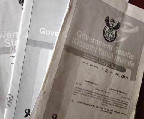 Government Gazette files